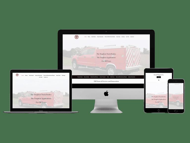 Screen Rendering of Swab Wagon's Website